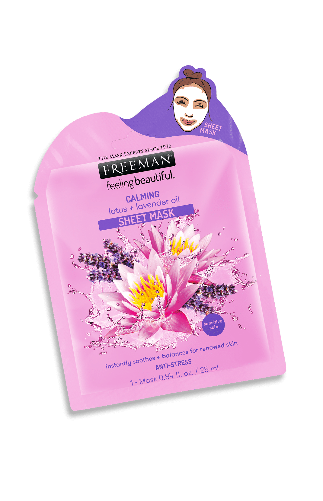 CALMING lotus + lavender oil SHEET MASK