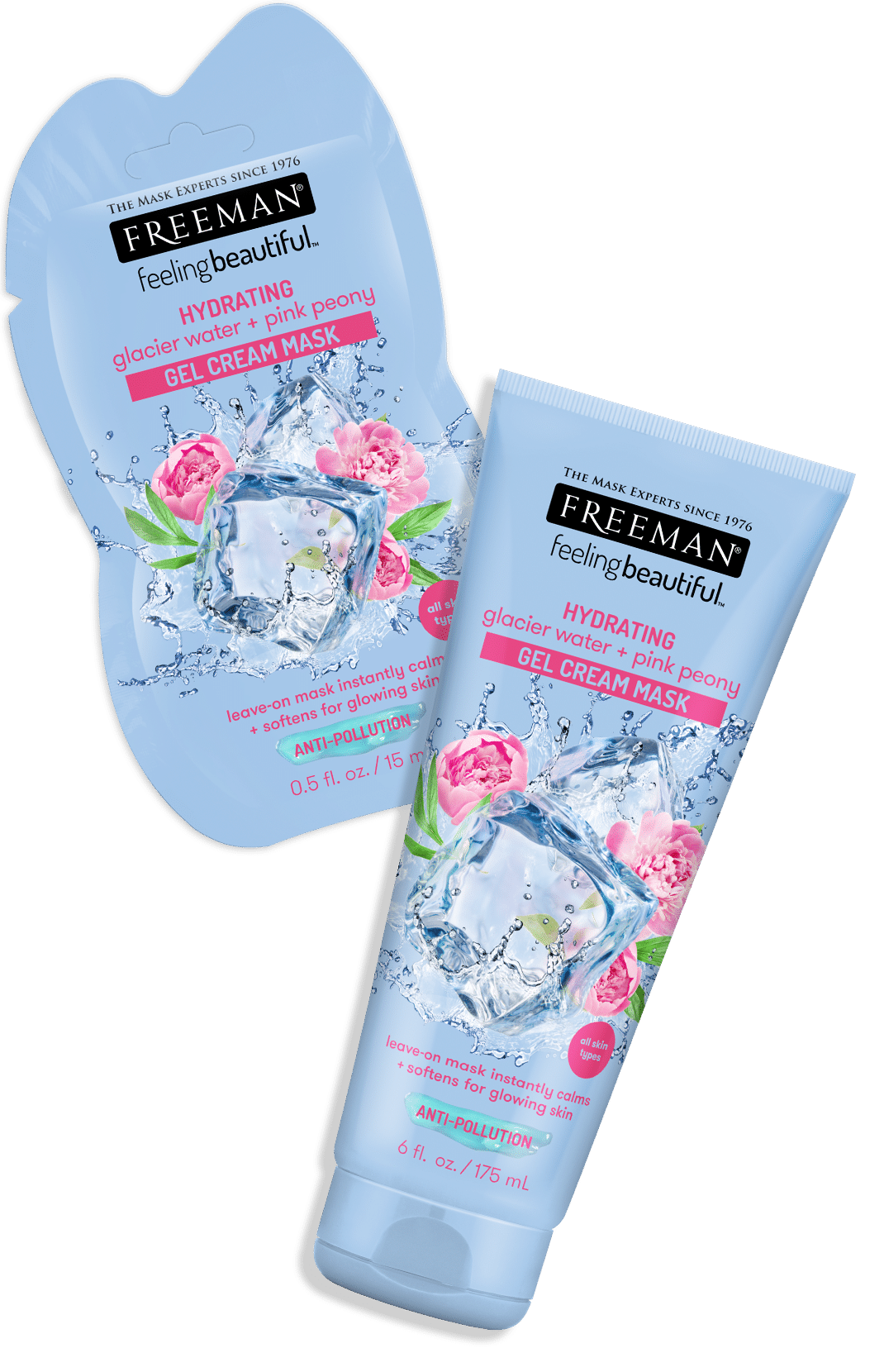 HYDRATING glacier water + pink peony GEL CREAM MASK