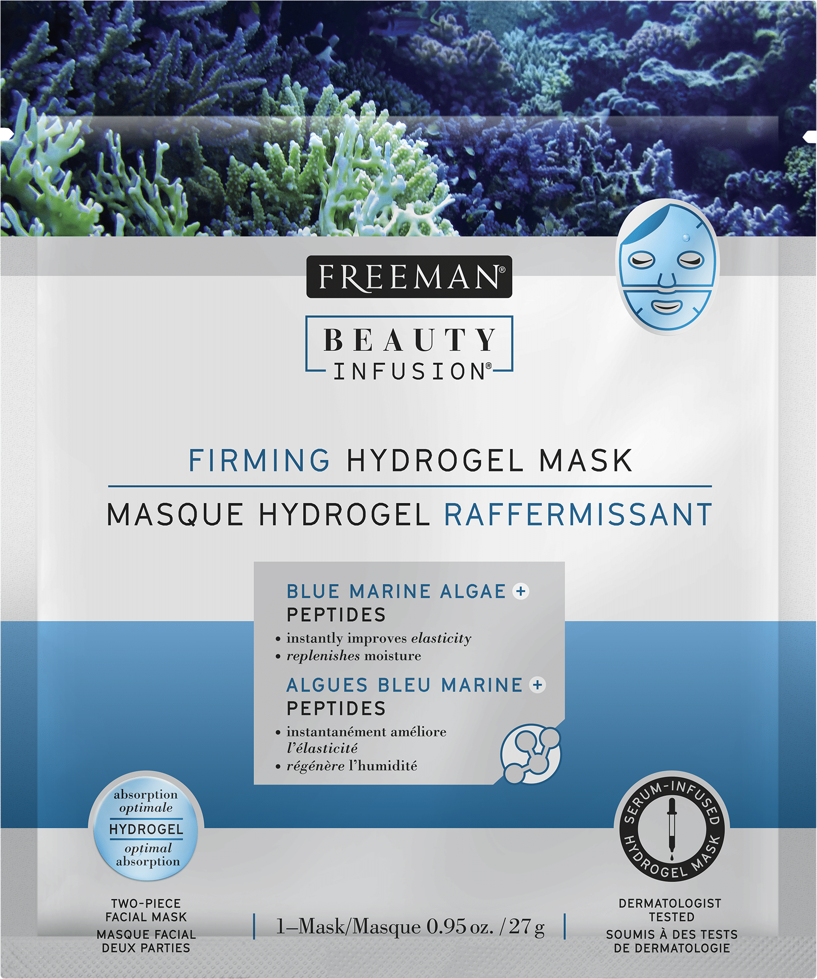 FIRMING HYDROGEL MASK BLUE MARINE ALGAE + PEPTIDES