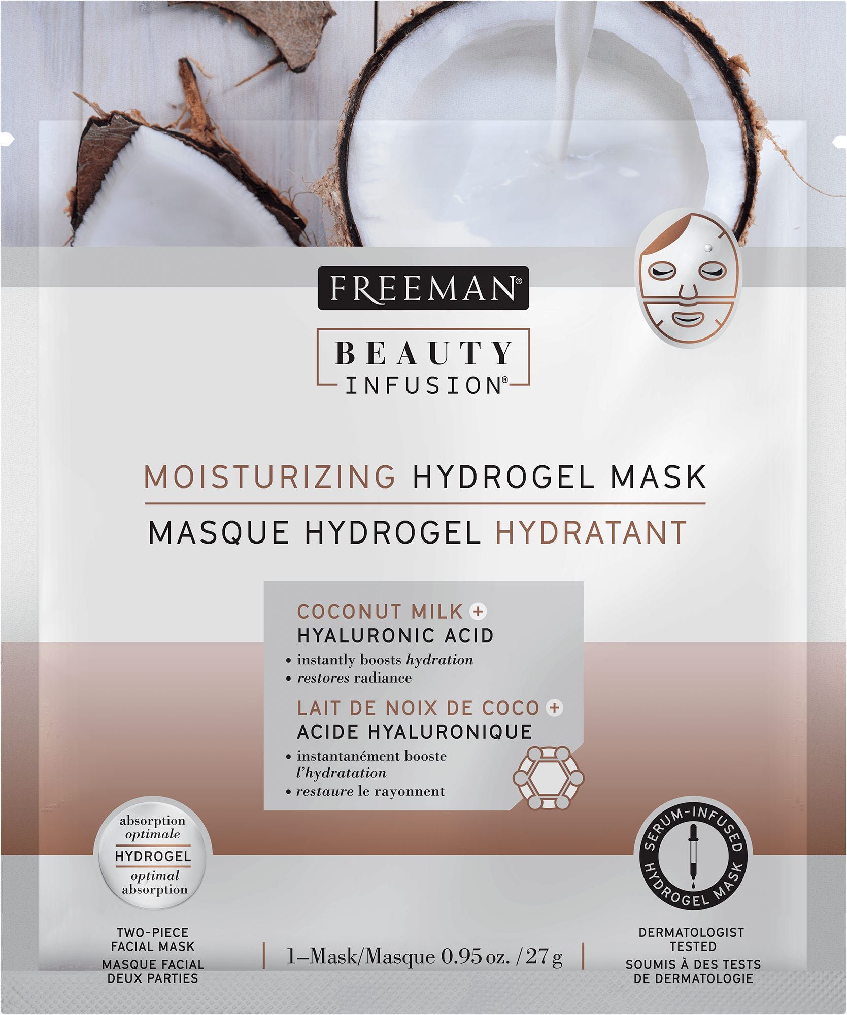 MOISTURIZING HYDROGEL MASK COCONUT MILK + HYALURONIC ACID