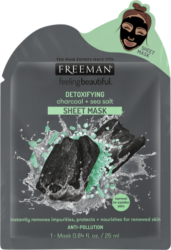 DETOXIFYING charcoal + sea salt SHEET MASK