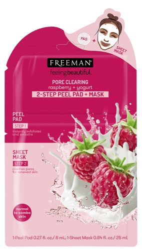 PORE CLEARING raspberry + yogurt 2-STEP PEEL PAD + MASK