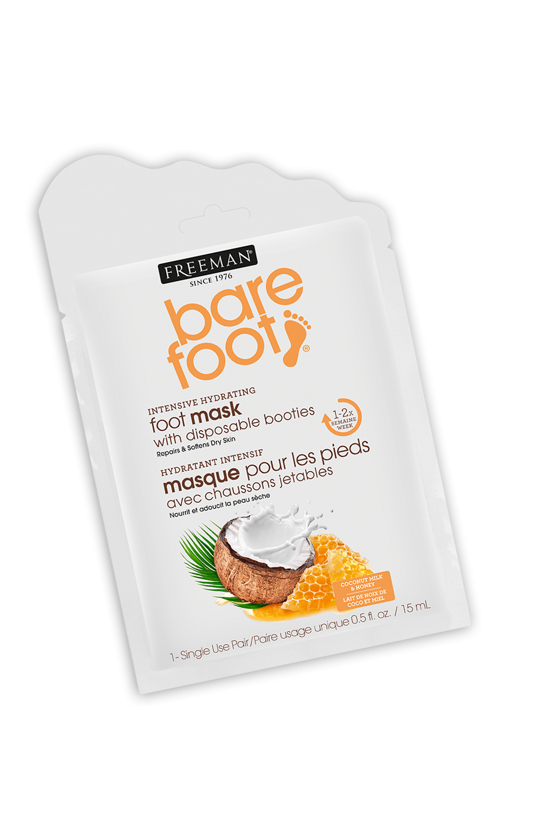 INTENSIVE HYDRATING foot mask COCONUT MILK & HONEY