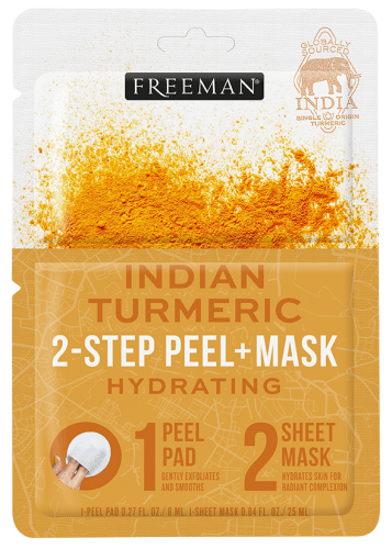 Hydrating Indian Turmeric 2-Step Peel + Mask