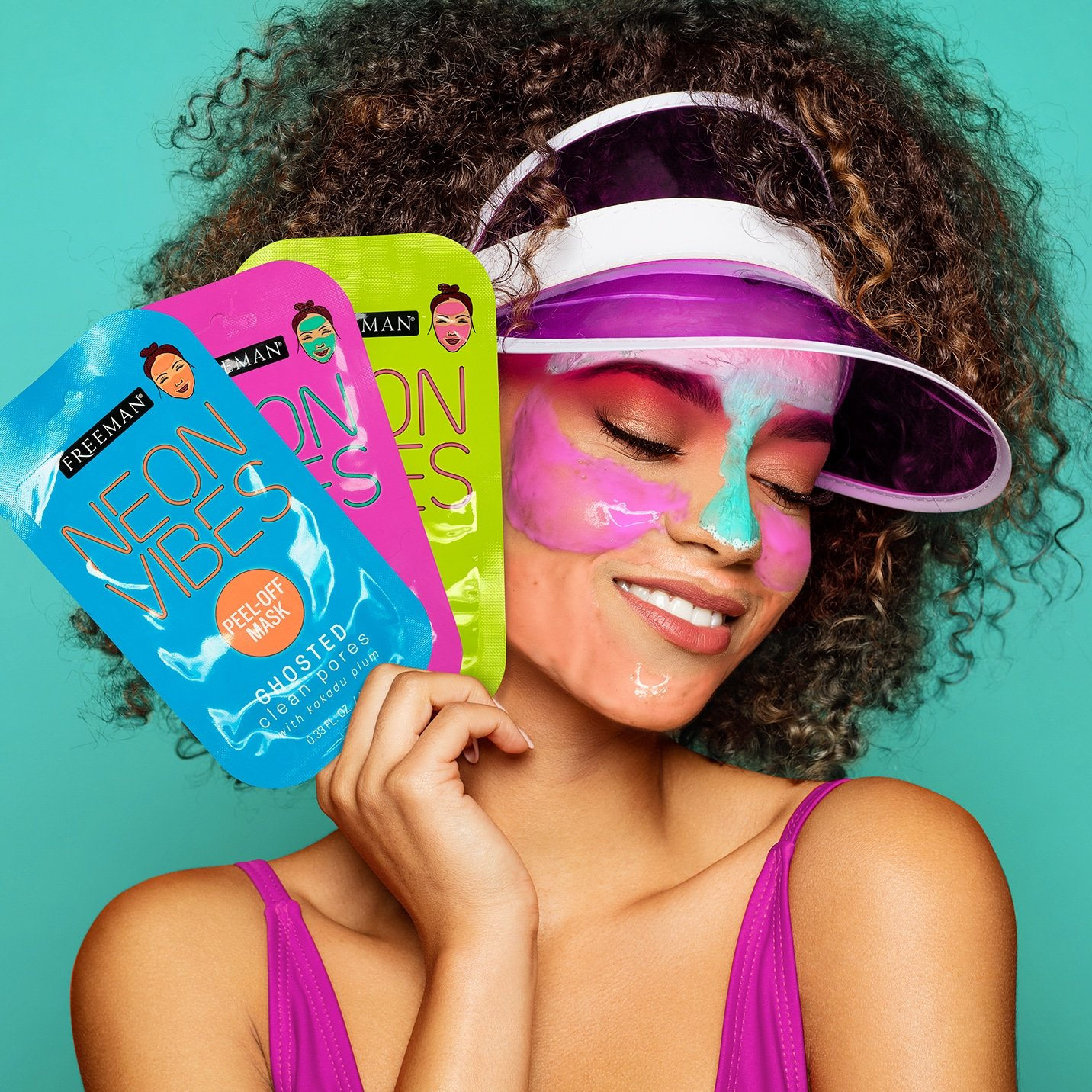 Neon Vibes No Stress Oil Absorbing Blue Lotus Clay Mask