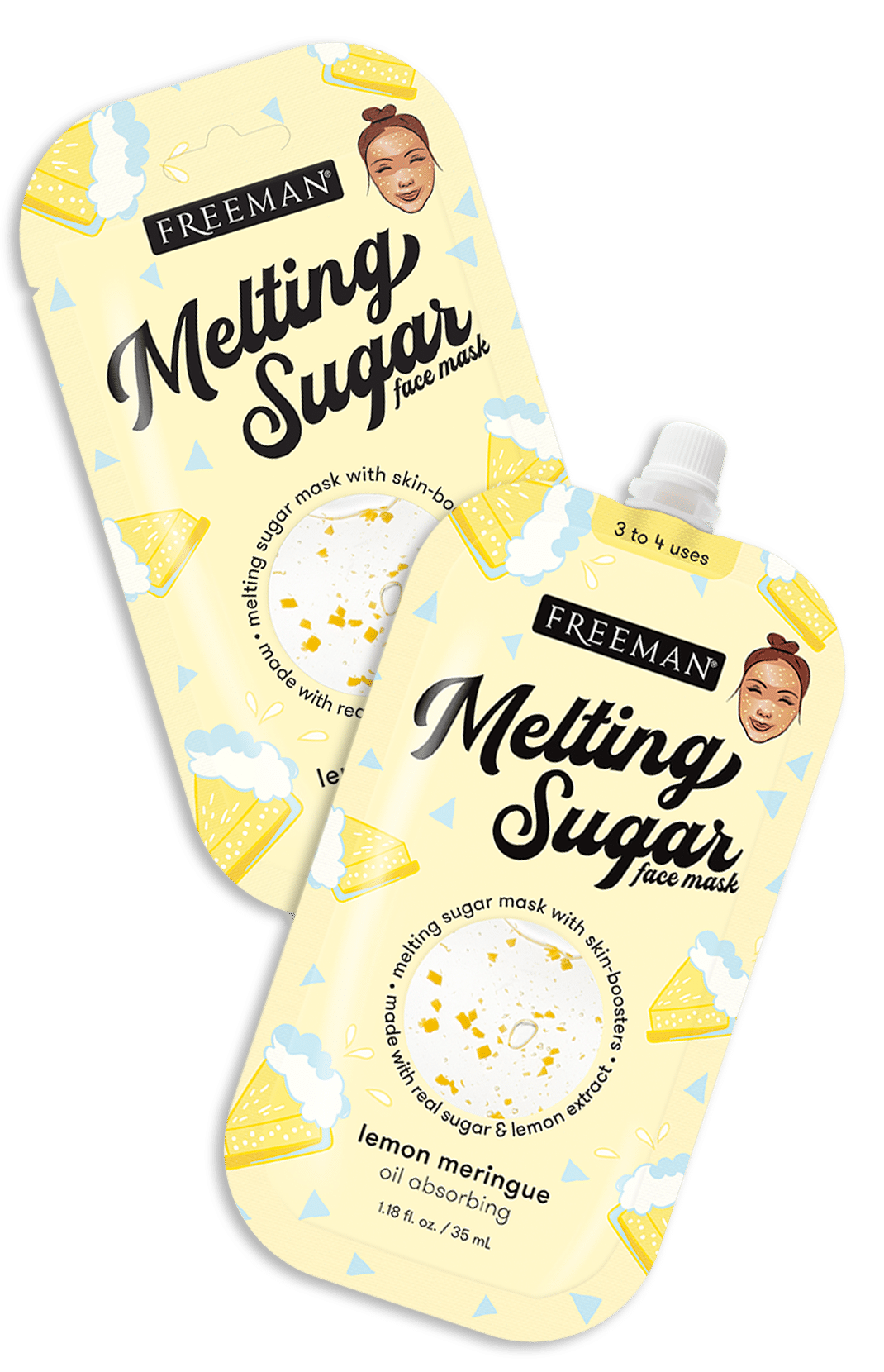 Melting Sugar Oil Absorbing Lemon Meringue Face Mask
