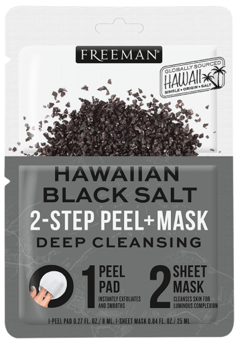 Deep Cleansing Hawaiian Black Salt 2-Step Peel + Mask